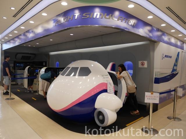 羽田空港国際ターミナルフライとシミュレータ