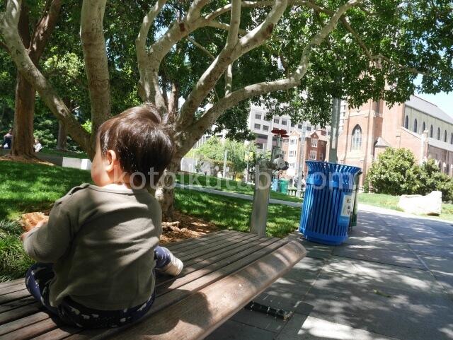 Yerba Buena Gardenのベンチ