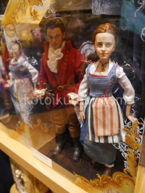 サンフランシスコのディズニーストアで売られていた美女と野獣のリアル人形