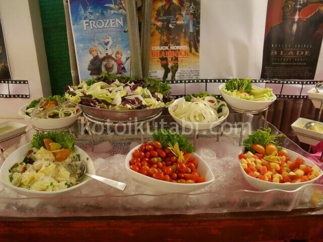 ラフローラリゾートパトンのガラディナー(サラダ)