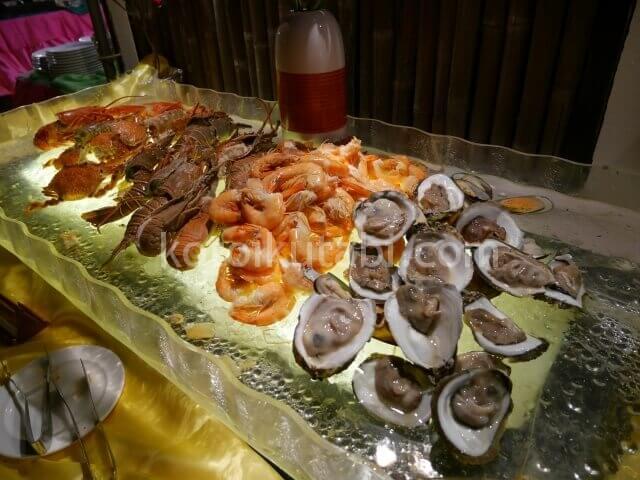 ラフローラリゾートパトンのガラディナー(シーフード)