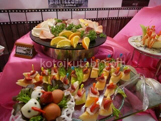 ラフローラリゾートパトンのガラディナー(前菜)