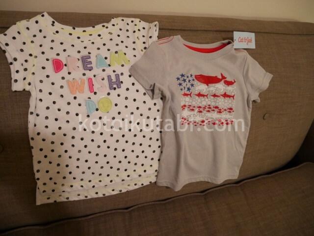 Targetで買った子供服
