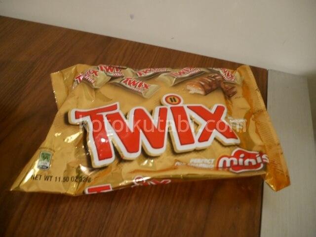 アメリカのチョコレートバーTWIX