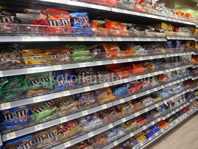 Walgreensのチョコレートコーナー