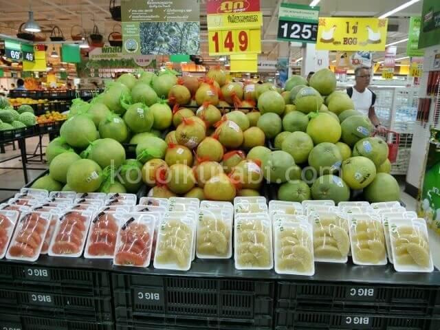 タイのスーパーで売っていたソムオー