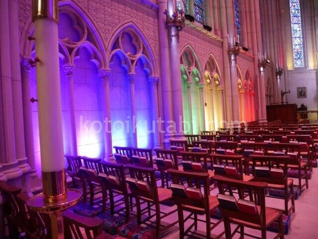 グレース大聖堂のレインボー