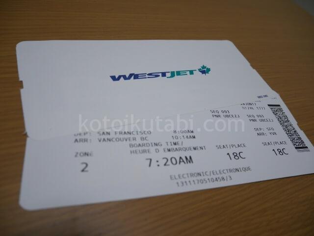 WESTJETの航空券