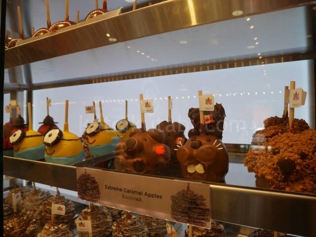 Rocky Mountain Chocolateのかわいいキャラメルアップル