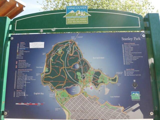 スタンレーパークの地図