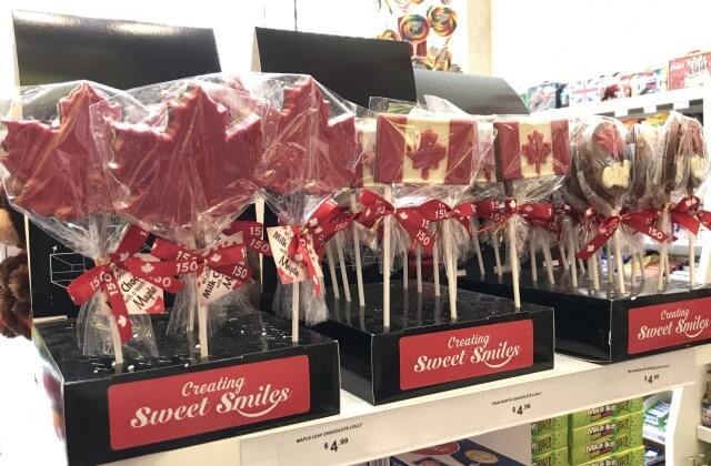 カナダ国旗のチョコレート