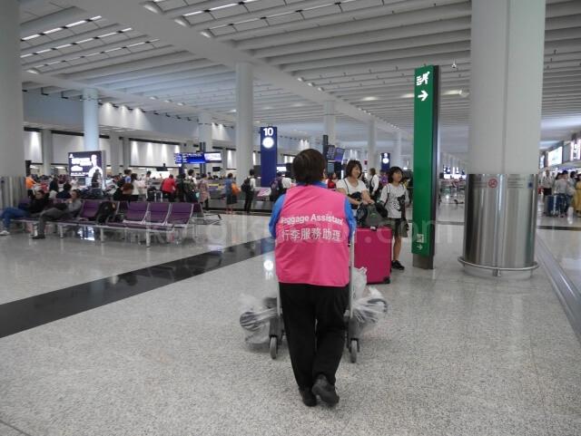 香港空港の荷物ピックアップ