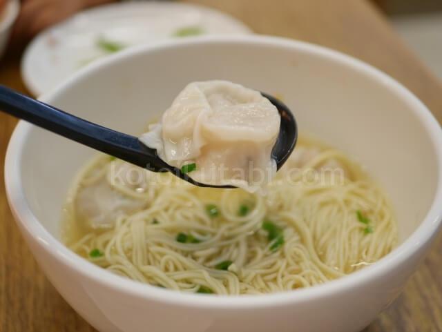 香港空港Crystal Jadeの雲呑麺