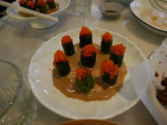Yumchaで食べた前菜