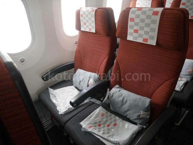 香港からの帰りのフライト(JAL)