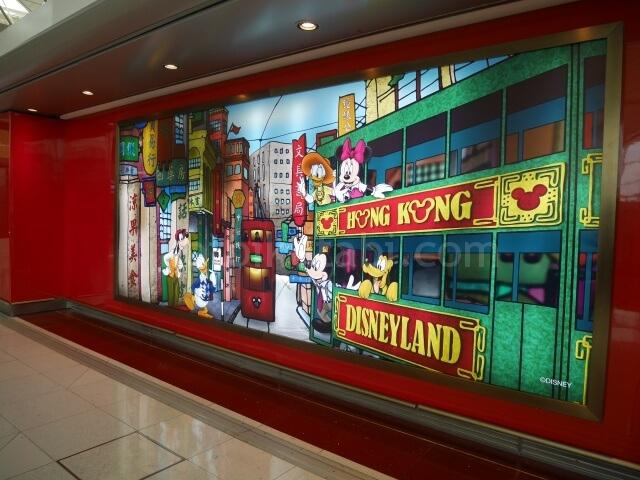 香港空港内のディズニーストア