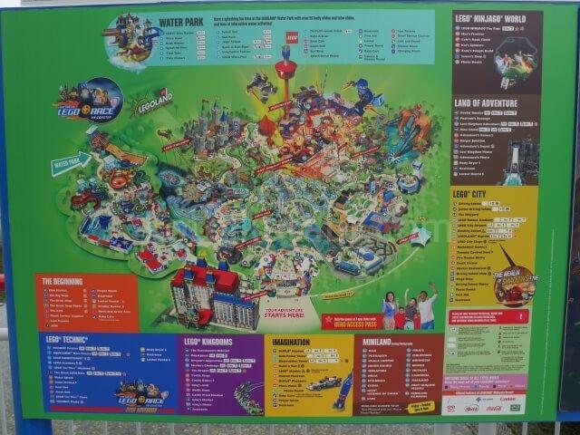 レゴランドマレーシアのマップ