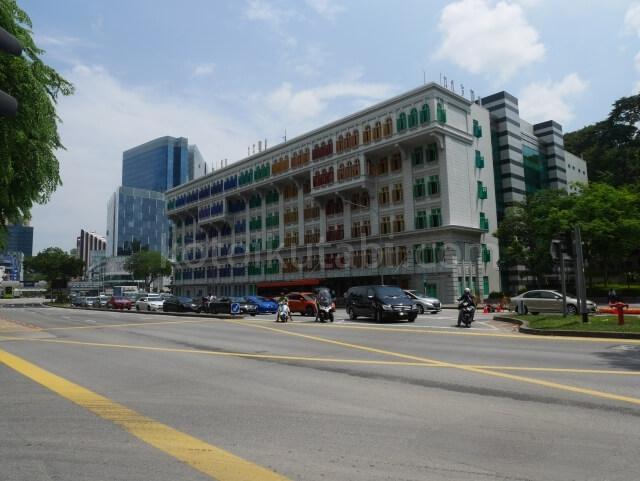 シンガポールの街並みカラフルな建物