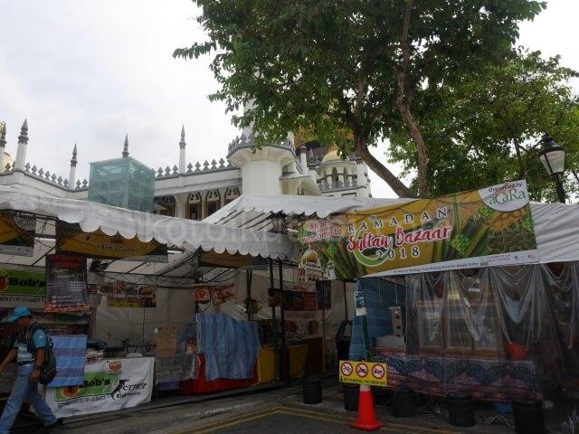サルタンモスク前のマーケット