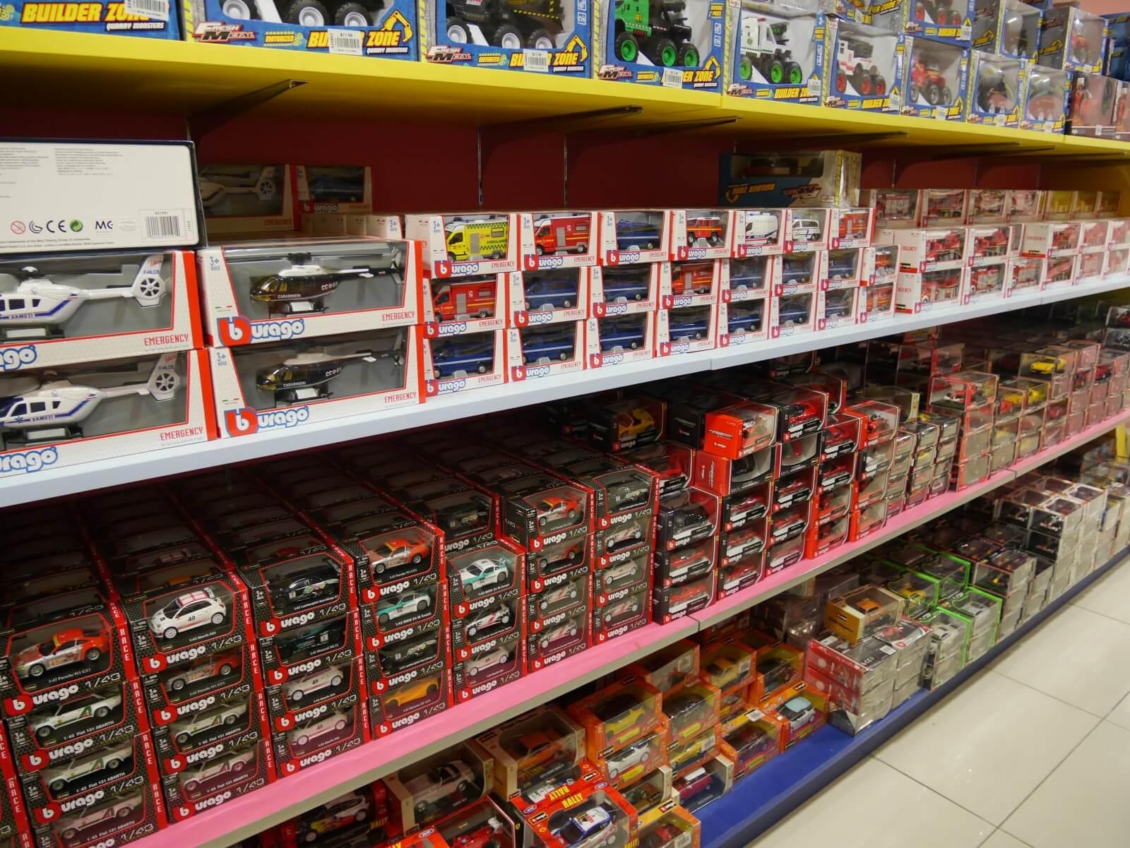 ムスタファセンターの店内おもちゃ売り場
