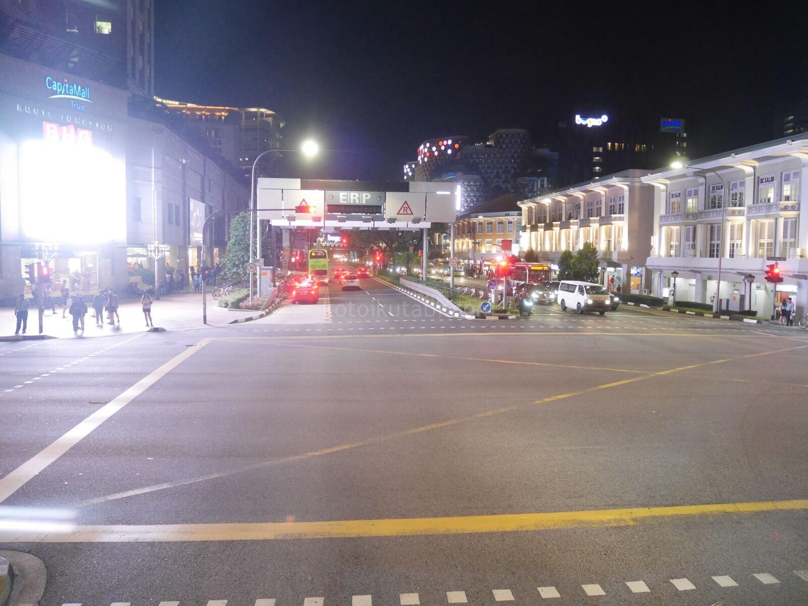 シンガポールのバス2階からの眺め