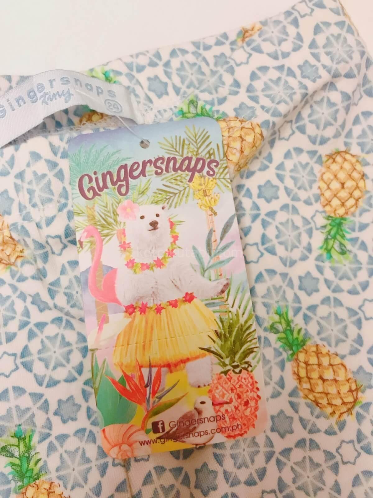 Gingersnapsの商品タグのイラストがかわいい!