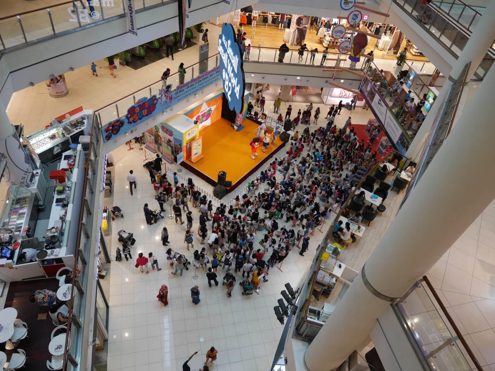 シンガポールのショッピングセンター