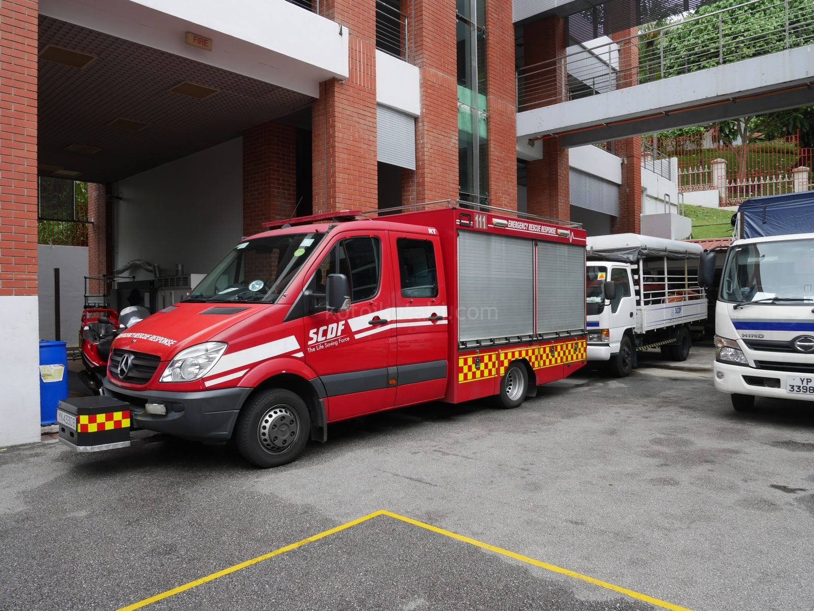 シンガポール消防署の見学