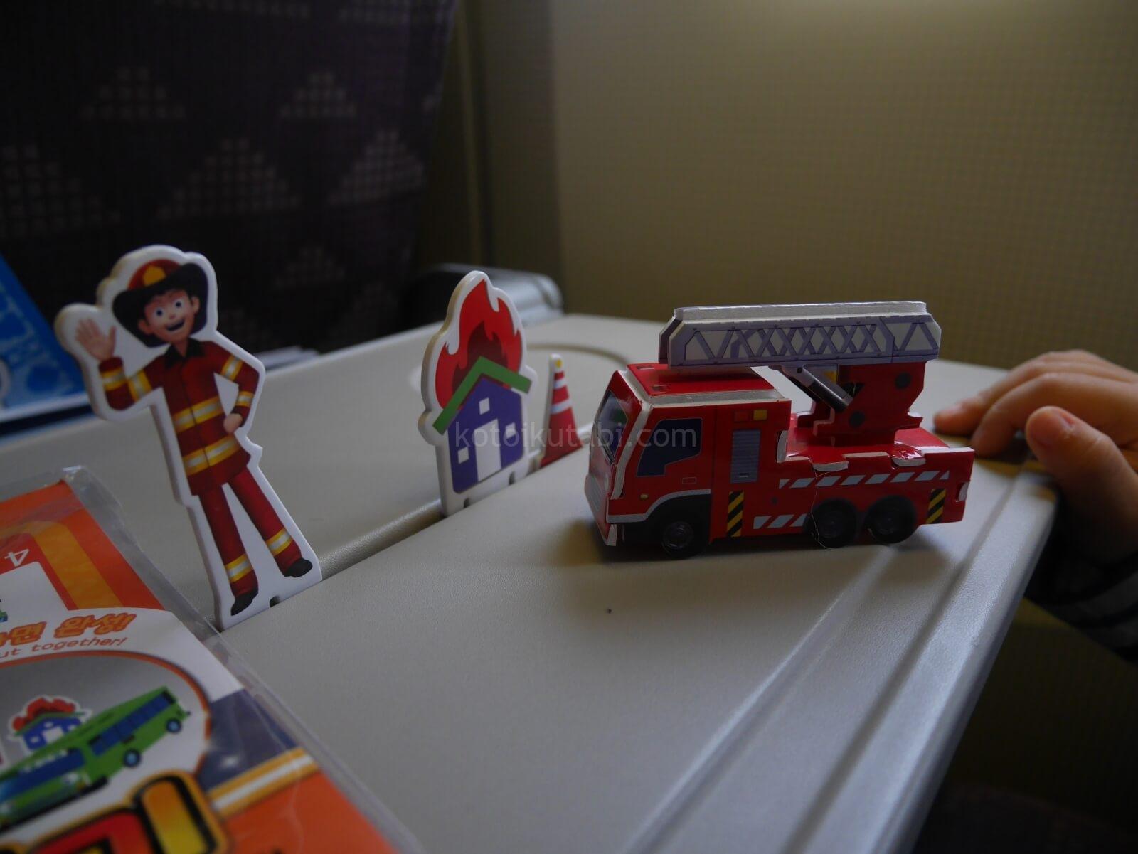 大韓航空でもらったおもちゃ